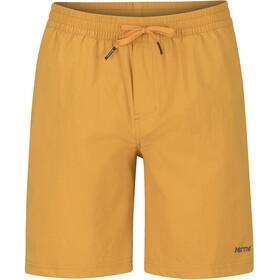 Marmot Allomare Spodnie krótkie Mężczyźni żółty